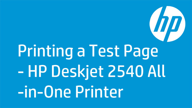 Printing A Test Page Hp Deskjet 2540 All In One Printer All Hp Color Test Page