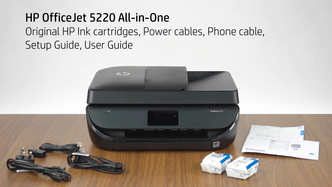 HP OfficeJet 5200 Unboxing Video (APJ, EMEA) - Products - HP Inc Video  Gallery - Products
