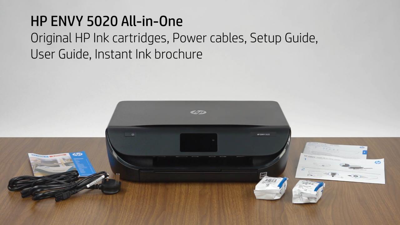 HP ENVY 5000 Instant Ink Unboxing Video (EMEA, NA) - Products - HP Inc  Video Gallery - Products