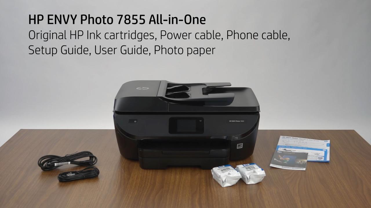 HP ENVY Photo 7800 Unboxing Video (WW) - Products - HP Inc Video Gallery -  Products