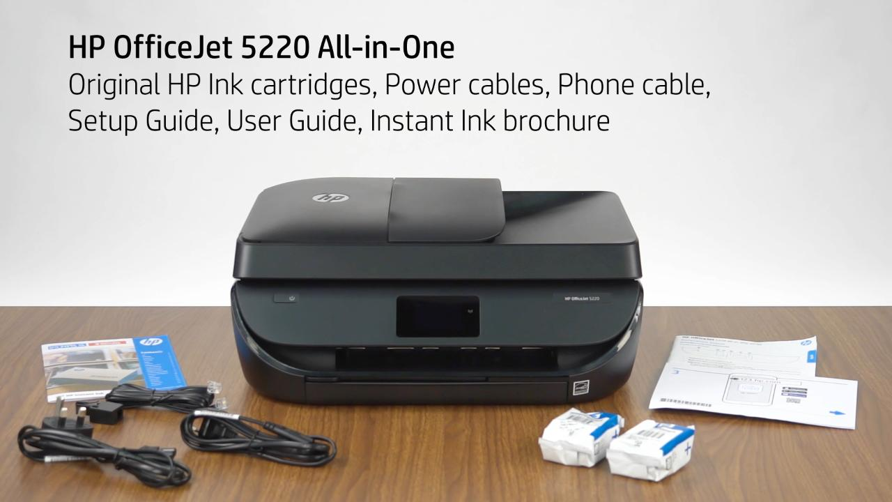 HP OfficeJet 5200 Instant Ink Unboxing Video (EMEA, NA)