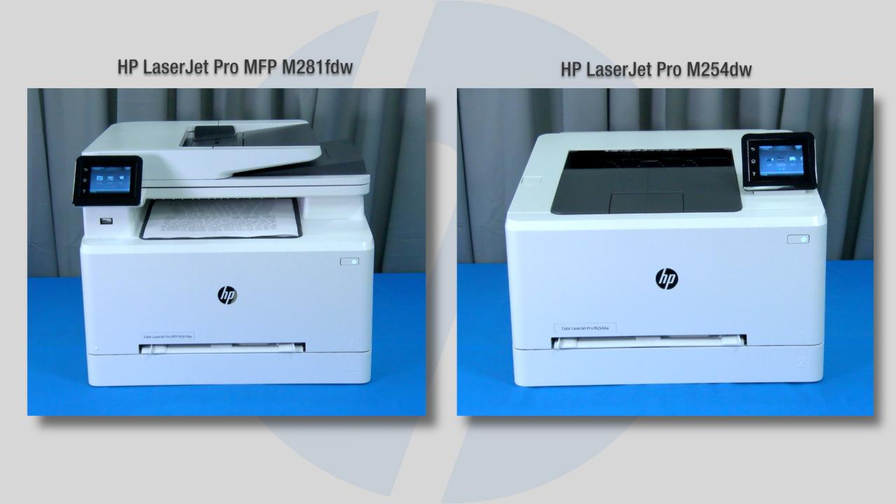 Comparative evaluation of HP Color LaserJet Pro MFP M281fdw and M254dw vs   competitive models  Video (WW MOV)
