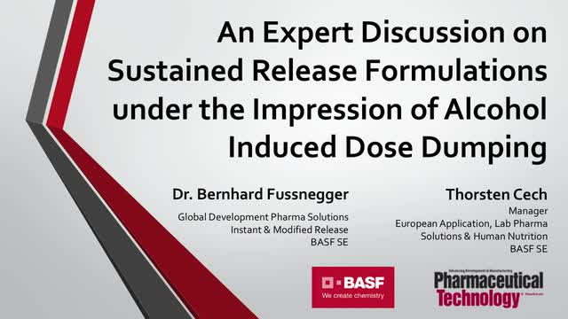 An Expert Discussion on Sustained Release Formulations under