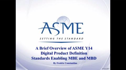 Overview Of Asme Y14 Digital Product Definition Standards Enabling