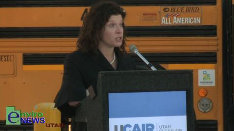 Dr. Michelle Hoffman MD of Breathe Utah Speaks Out on Air Pollution at the UCAIR Press Conference Featuring Governor Gary Herbert