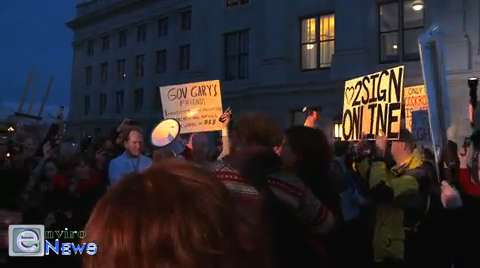 """Peaceful Uprising Sings """"This Little Light of Mine"""" in Protest at the HB 477 Rally on Capitol Hill"""