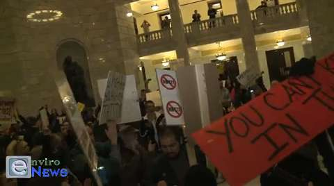 Protestors Storm the Utah State Capitol in Outrage of HB 477