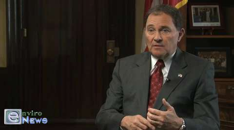 "Governor Herbert When Asked Serious Environmental Questions Speaks of Littering, Recycling, and ""Going on Down the Street"""