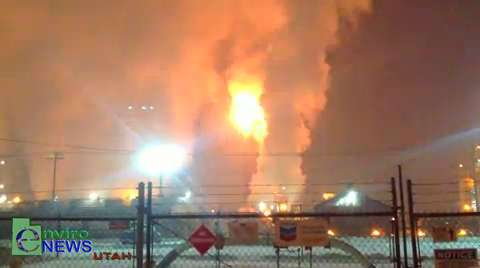 "Nighttime Tesoro Refinery Bypass Caught on Tape by EnviroNews Utah on ""RED AIR"" Day"
