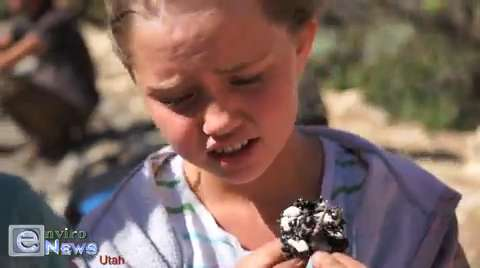 Children Discover and Play With Toxic Bitumen Tar Sands at America's First Approved Commercial Oil Sands Mine