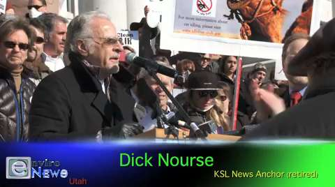 Legendary News Anchor Dick Nourse at Air Pollution Rally: 'This is my first protest!'