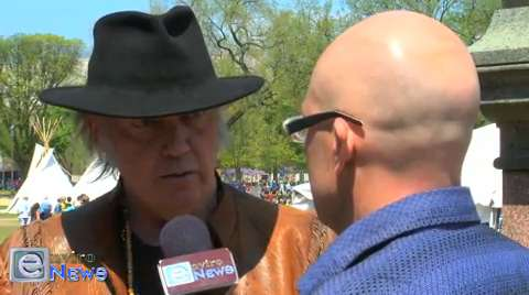 Neil Young on Climate Change, Keystone XL and Tar Sands at the Cowboy and Indian Alliance in DC