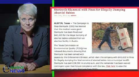 Medical Waste Plant Whistleblower Affirms Burning of Aborted Fetuses by Stericycle