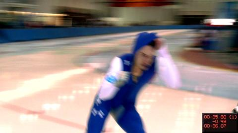 Kimani Griffin Balzes to Victory in 500m at America's Cup Speed Skating Championships