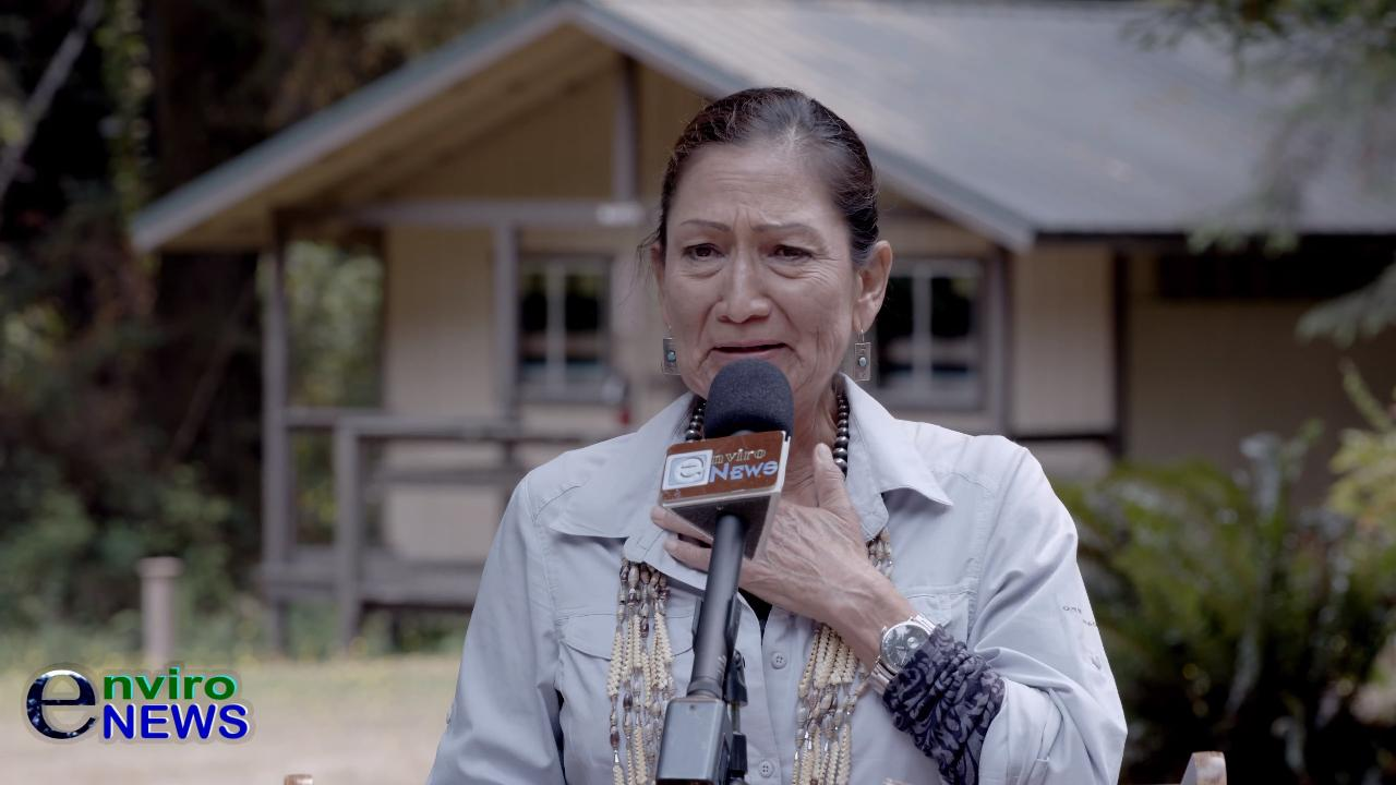 Interior Sec. Deb Haaland Moved to Tears in NorCal's Redwood Forest When Yurok Tribe Gives Her a Beautiful Gift (EnviroNews Exclusive)