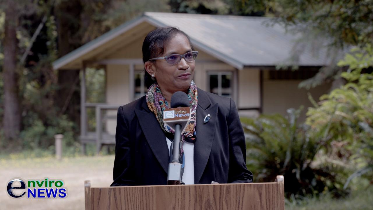 Video: White House CEQ Chair Brenda Mallory Addresses Stakeholders With Deb Haaland in Redwood National and State Parks