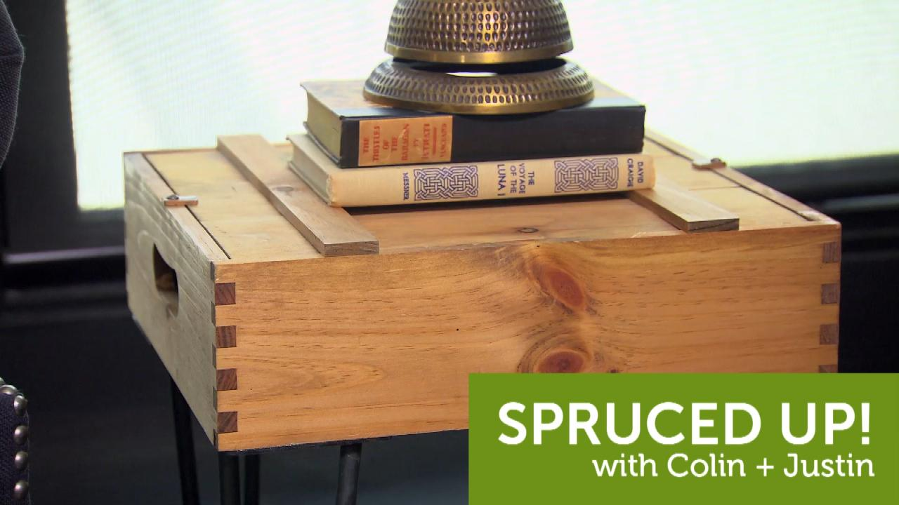 Colin and Justin make the perfect side table for your cottage