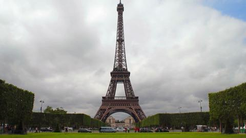 Wide Shot Of Eiffel Tower