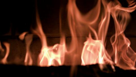 Slow Motion Fireplace Flames