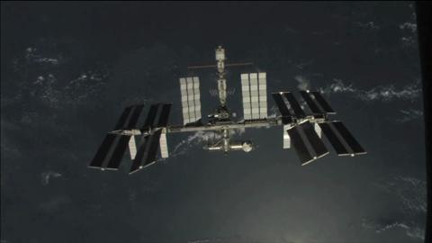 Space Station Passing Over