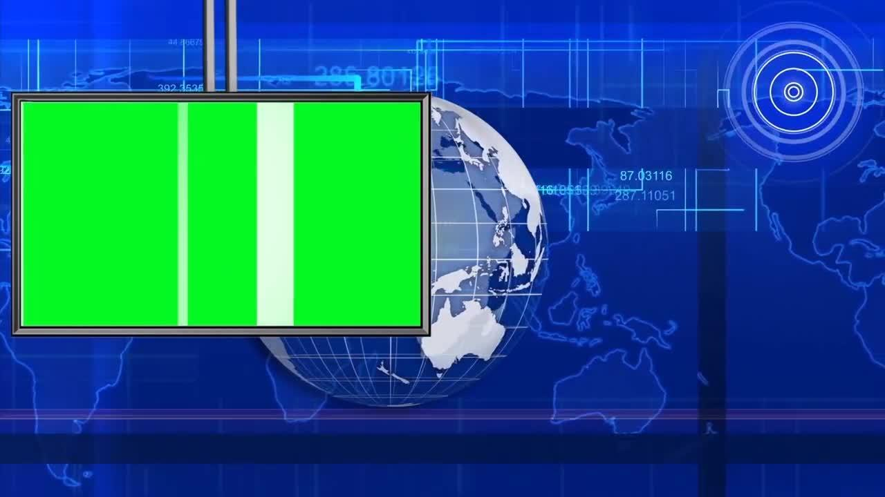 Hud Style News Intro With Green Monitor
