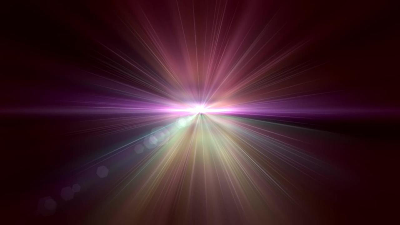 Star Light Rays Sun Sunburst Particle Animation