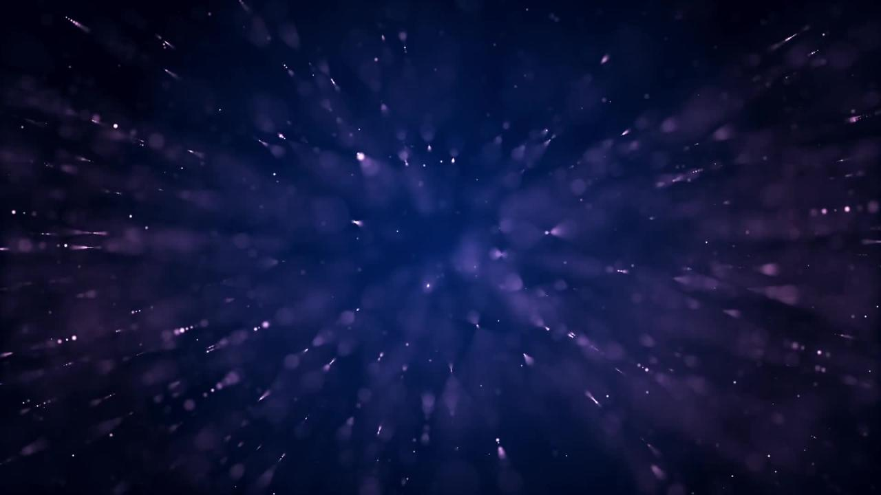 Space Stars Abstract Lights Blue Particle Form
