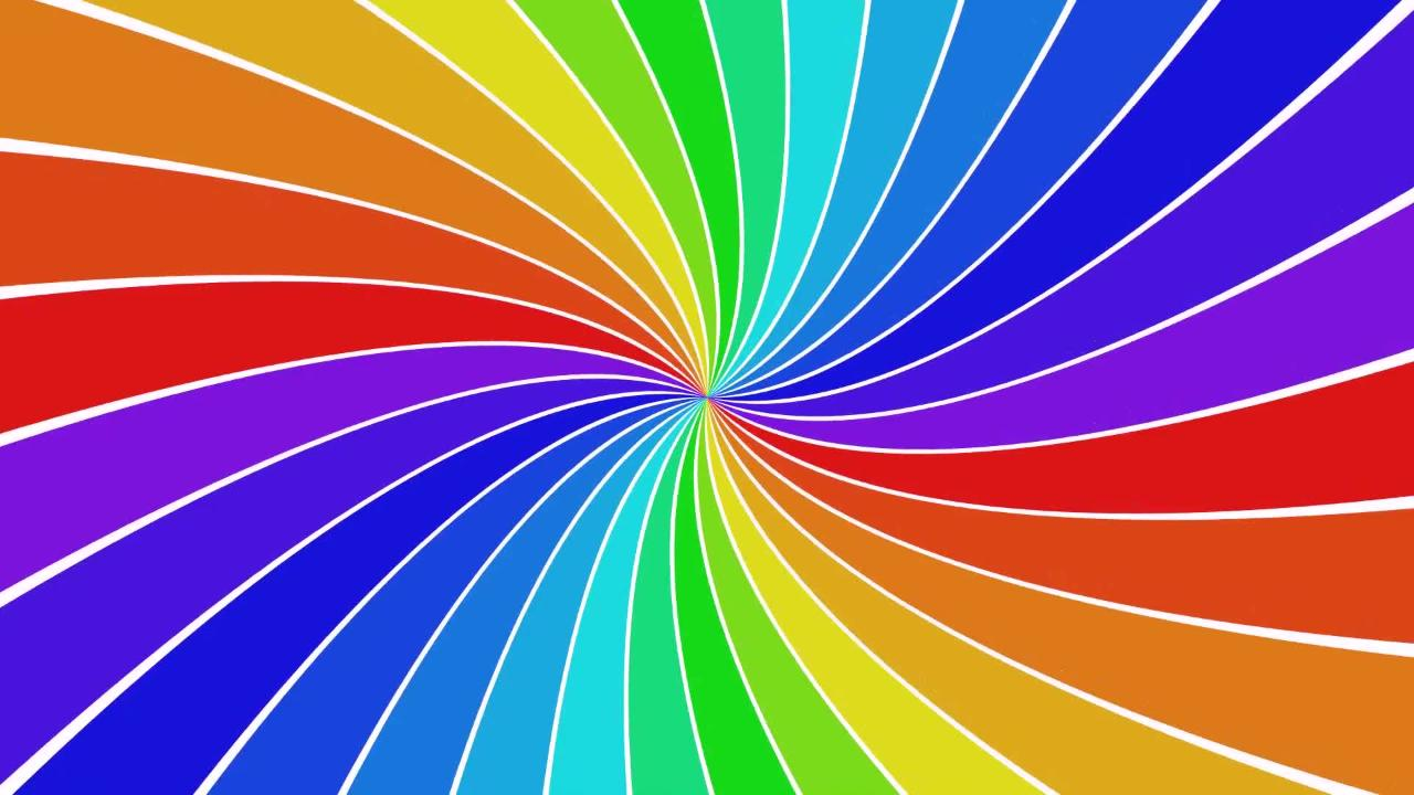 Rainbow Spiral Rotation Colors Colorful