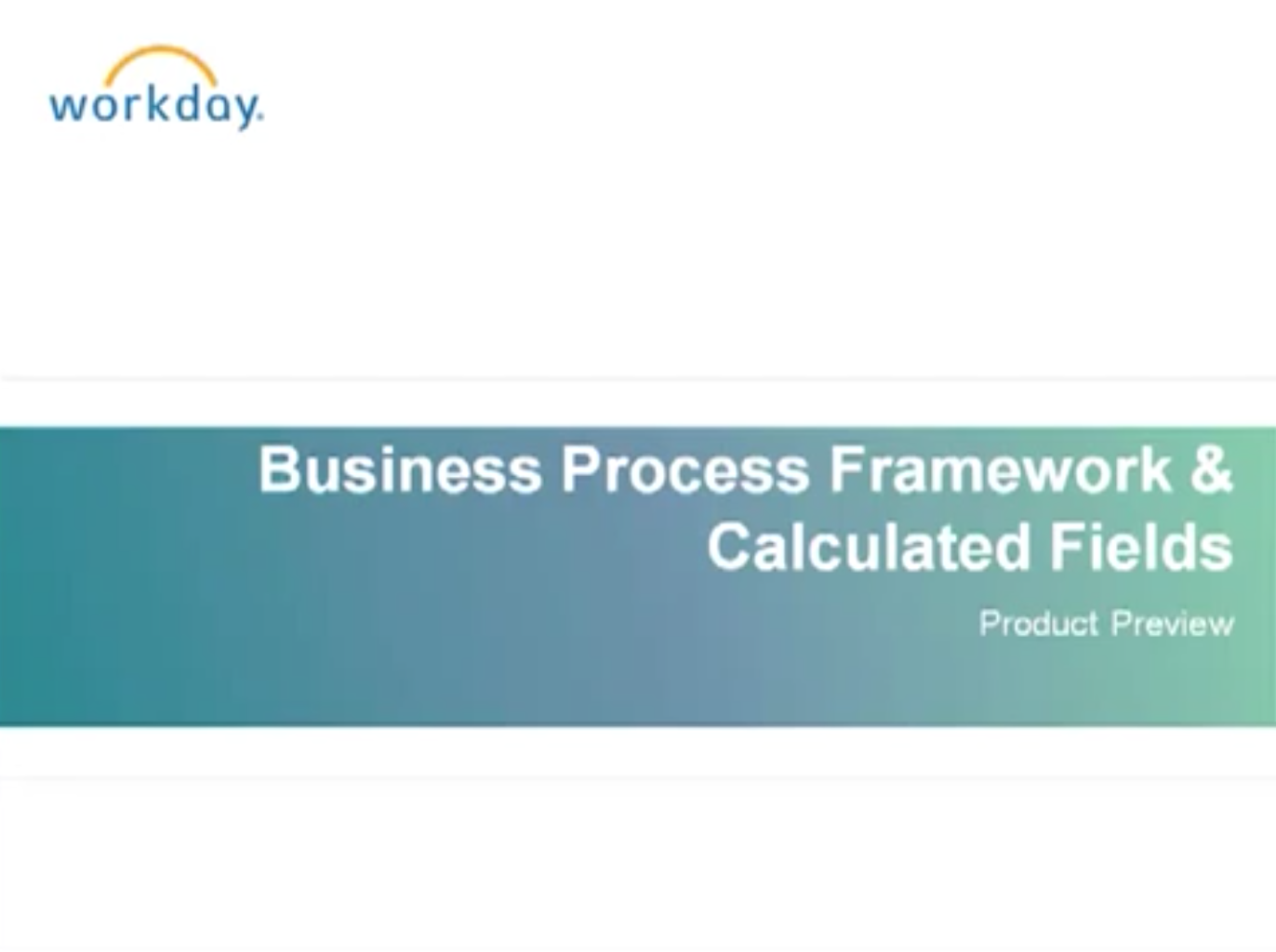 Product Preview: Business Process Framework - Human Capital