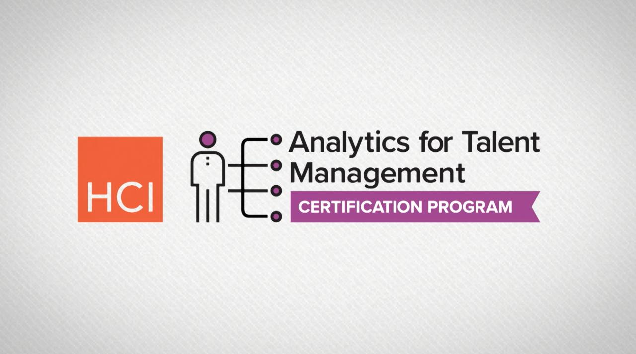 Analytics For Talent Management Atm Certification Hr Training