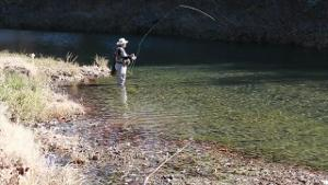Trout Fishing at Turner Falls Park