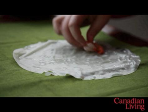 how to cook rice paper spring rolls