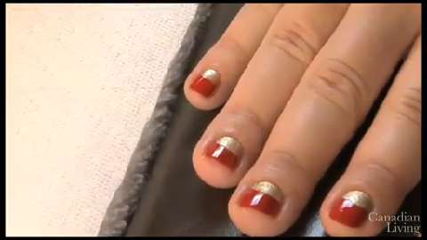 Nail art do it yourself with the glitter fade manicure canadian living nail art how to master the moon manicure solutioingenieria Images