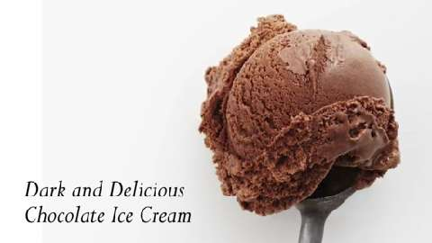 How to make dark chocolate ice cream