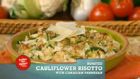 Best Recipes Ever: Roasted Cauliflower Risotto with Canadian Parmesan