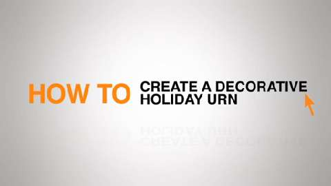 Create a Holiday Urn brought to you by The Home Depot