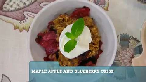 Best Recipes Ever: Maple Apple and Blueberry Crisp