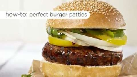 How to shape burger patties