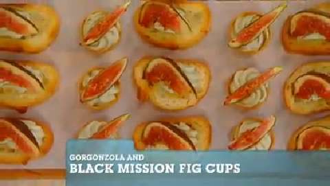 Best Recipes Ever: Gorgonzola and Black Mission Fig Cups