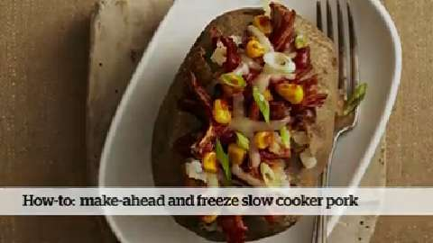 How to make ahead and freeze Slow Cooker Shredded Pork