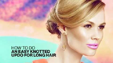 How to do an easy knotted updo for long hair