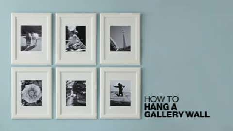 How to hang pictures to create a gallery wall