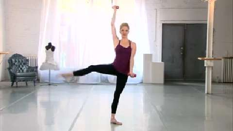 Ballet barre arm workout