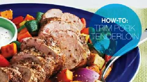How to trim pork tenderloin