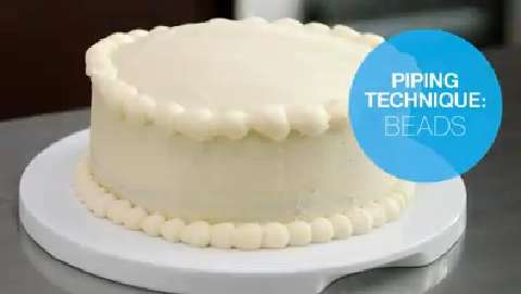 Cake decorating: How to pipe icing beads