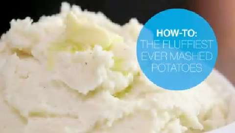 How to make the fluffiest mashed potatoes ever