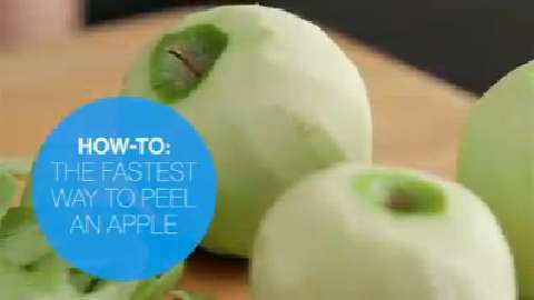 The quickest way to peel an apple