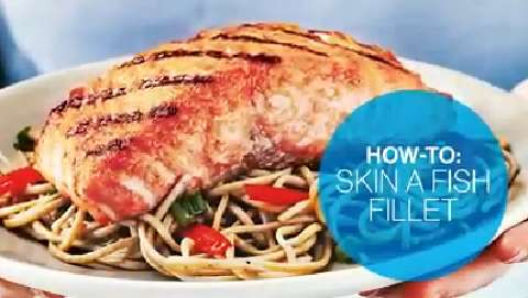 How to skin a fish fillet