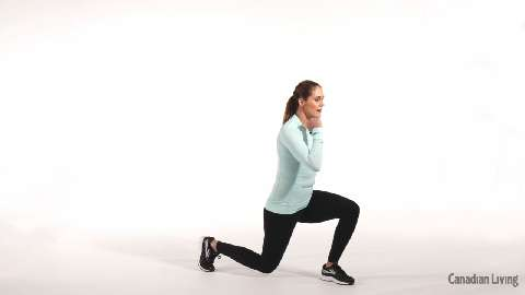 Plyometric lunge: A lower-body move to get your heart rate up