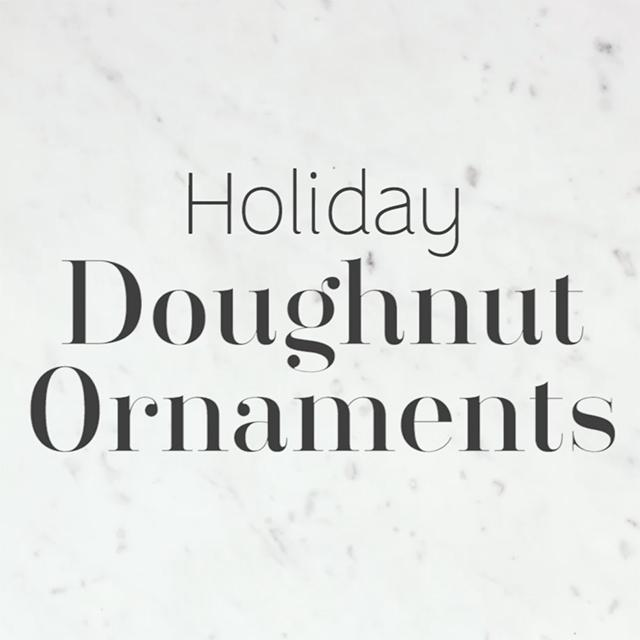 DIY Doughnut Ornaments